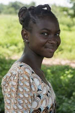 Niaye is 12 and she is still in school (Delphine Diallo - Save the Children)