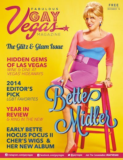 Bette Midler on the cover of Gay Vegas Magazine