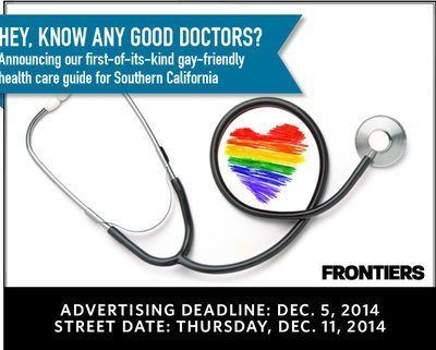 LGBT friendly doctors directory in Frontiers