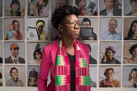 This is Joy Buolamwini, a researcher in the MIT Media Lab's Civic Media group - Photo Credit: Bryce Vickmark.