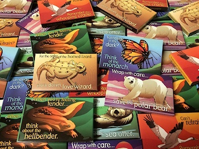 All condom packages designed by Lori Lieber with artwork by Shawn DiCriscio. © 2015. Image Credit: Center for Biological Diversity